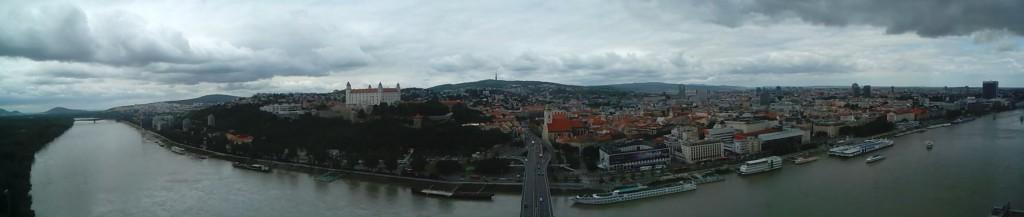 Panorámica desde el OVNI en Bratislava