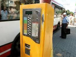 Expendedor de ticket de transporte público