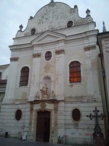 Iglesia de los Franciscanos en el centro Bratislava