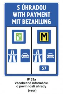 la señal de tráfico de carreteras de pago