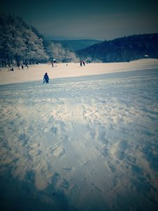 Pista para esquiar de Pezinská Baba en Bratislava. (Eslovaquia)